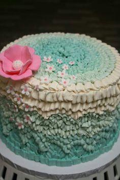 Very pretty ruffled cake