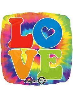 "Hippie Party Supplies 60s | 60's Hippie Feeling Groovy 18"" Balloon (Each) - Themed Balloons ..."