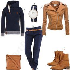 Damen-Style in Hellbraun und Dunkelblau (w0620) #outfit #style #fashion #womensfashion #womensstyle #womenswear #clothing #styling #outfitfrauen #frauenmode #damenmode #handtasche  #inspiration #outfitfrauen #frauenoutfit #damenoutfit #cloth