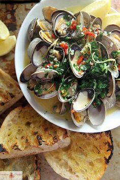 Wine & Butter Steamed Clams.jpg one of my favorite :)