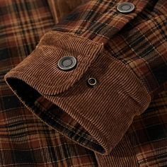 Men's Shirt Cotton Liner Casual Plaid Thick Wool Outwear for Autumn Winter Winter Shirts, Cotton Style, Preppy Style, Jacket Style, Collar Shirts, Casual Shirts For Men, Style Guides, Types Of Shirts, Outerwear Jackets