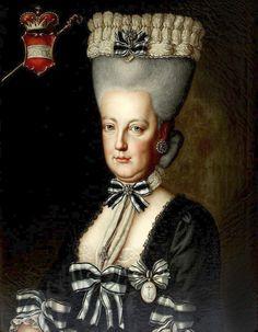 Archduchess Mary Elisabeth of Austria (Museum Stift Stams - Stams Austria) Portrait Art, Portraits, Jean Antoine Watteau, Maria Theresia, Mourning Dress, 18th Century Fashion, 19th Century, Fashion Painting, Fashion Art
