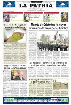 BOLIVIA:Portada de La Patria (Bolivia)