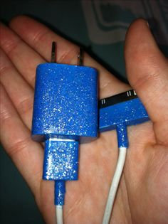 Tired of your boring white iPhone charger? Add some color and dazzle to it by adding nail polish! Make sure when doing this project, you tape the metal parts otherwise bad things will start to happen... Enjoy!