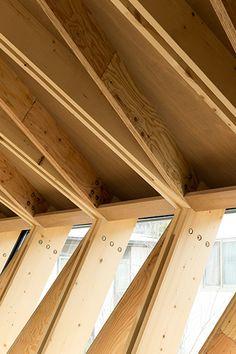 Tak med karaktär av Apollo Architects, foto Masao Nishikawa – http://www.tidningentra.se/notiser/veckad-villa #arkitektur i #trä