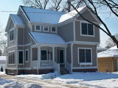 Snow on a Coppertree custom home