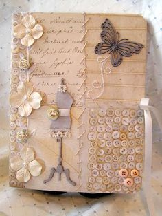Shabby Chic Journal Decorated In Style