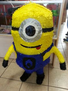 Jumbo Yellow Pinata by pinatasource on Etsy, $70.00/ $20 shipping..perfect for a despicable me party