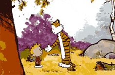 Animated Calvin and Hobbes dance. It makes me smiles. :)  via TheMetaPicture.