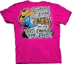 Southern Belle Funny Country Boots Cowgirl Girlie Bright T Shirt | SimplyCuteTees