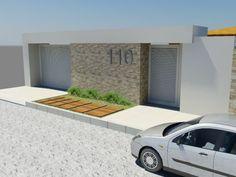 fachada de casas com portão de aluminio - Pesquisa Google