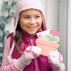 """Cute flower seed card idea. """"Let's watch our friendship grow"""". Valentines"""