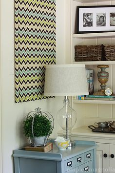 Redo your old cork bulletin board with your favorite fabric! Love this blog :)