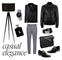 """Untitled #9"" by makesmefashionable on Polyvore featuring Adesso, BOSS Hugo Boss, Versace, Cartier, Ralph Lauren, Millburn Co., Burberry, men's fashion and menswear"