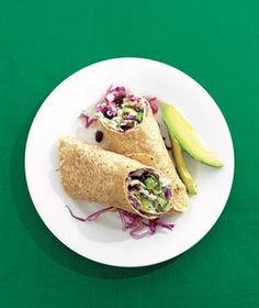 Black Bean and Feta Stuffed Burrito recipe