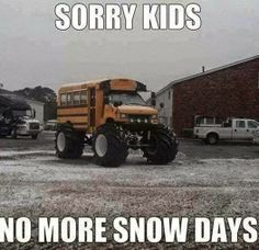 My son would be SO disappointed!  Cool winter bus