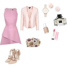 Wedding time by fakefairy on Polyvore featuring moda, Topshop, Accessorize, Olivia Burton, Gucci, Revlon and Essie
