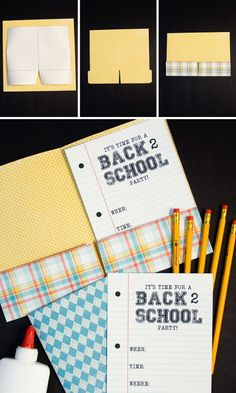 Back to School Party invites on onecharmingparty.com #backtoschoolparty