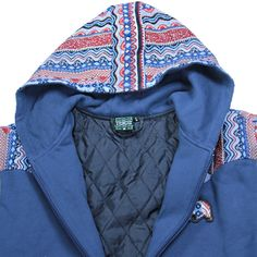 Bear Collection Wavy Blue Zip Up Hoodie - Grassroots California - 3