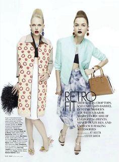 february elle magazine retro looks