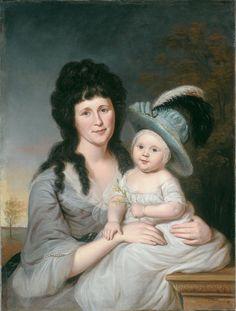 Charles Willson Peale American, 1741-1827 Mrs. John Nicholson (Hannah Duncan) and John Nicholson, Jr., 1790