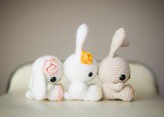 crochet-Spring bunnies. Free pattern on ravelry.