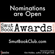 Nominations for the Smut Book Awards 2014 are open