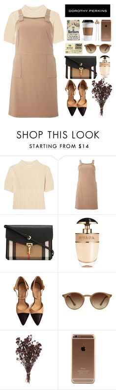 """""""Simple Outfit #59"""" by rizkafathi ❤ liked on Polyvore featuring Totême, Dorothy Perkins, Burberry, Prada, Chanel, Ray-Ban, Accessorize, DorothyPerkins and polyvoreeditorial"""