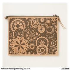 Aztec abstract pattern travel pouch