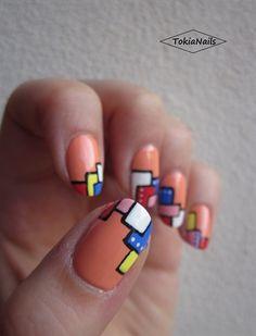 Geometria by TokiaNails - Nail Art Gallery nailartgallery.nailsmag.com by Nails Magazine www.nailsmag.com #nailart