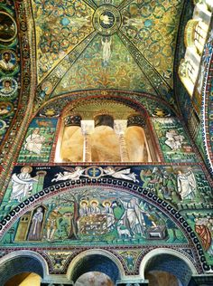 """Dazzling ancient mosaics inside Basilica San Vitale in Ravenna"" by @SuuperG"