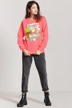 Product Name:Rugrats Graphic Sweatshirt, Category:CLEARANCE_ZERO, Price:24.9