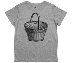 El Cheapo Antique Basket Toddler Grey Marle T-Shirt