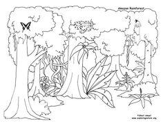 Resultat d'imatges de dibujo de la selva tropical para ...