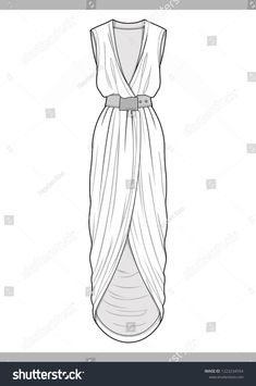 to drawing dresses Dress Fashion Technical Drawings Vector Template Stock Vector (Royalty Free) 1223234554 Fashion Drawing Tutorial, Fashion Model Drawing, Fashion Drawing Dresses, Fashion Design Drawings, Fashion Dresses, Fashion Flats, Fashion Fashion, Dress Design Drawing, Dress Design Sketches