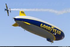 Goodyear Zeppelin LZ N07-101 Zeppelin NT N1A (cn 006) Goodyear's brand new zeppelin, Wingfoot One, complete with matching stunt plane. EAA AirVenture 2015.