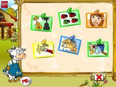Juego interactivo online para niños de 3 años Paca la vaca 1er trimestre. Ideal para desarrollar el aprestamiento infantil. Paca la vaca 1er trimestre: 3 años