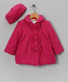 Penelope Mack Penelope Mack Pink Bow Coat   Hat - Toddler 82914ed98d6a