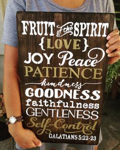 Fruit Of The Spirit,Galatians 5:22-23,Sign,Wood Sign,Scripture,Scripture Wall Art,Home Decor,For The Home,Christian Home Decor,Wall Decor