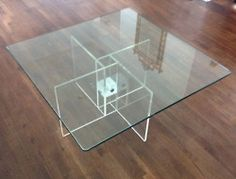 Loving Lucite...  Lucite+glass coffee table
