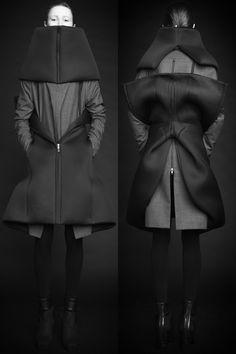 Rad Hourani – 6 Pieces, 22 Looks Geometric Fashion, 3d Fashion, Dark Fashion, Unisex Fashion, Fashion Details, Fashion Beauty, Womens Fashion, Fashion Design, Rad Hourani