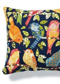 Fun printed outdoor pillows.