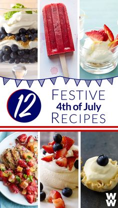 12 Patriotic Party Plates : Celebrate 4th of July all weekend long, with delicious red, white & blue recipes!