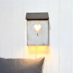 LAMPARA CORAZON GRIS