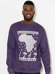 Okayafrica Holiday Sweatshirt (Purple)