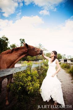 if I were to ever get married, I am having a picture with my horses like this <3