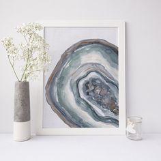 Geode Agate Slice Art Print