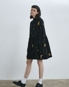 Lazy Oaf Golden Galaxy Sweater Dress - Everything - Categories - Womens Size M/L