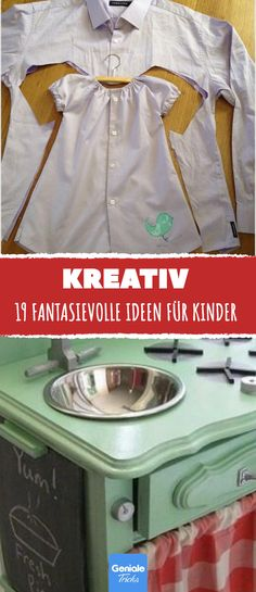 19 imaginative ideas for children – inside and outside / # outside # imaginative … - Kinderspiele Upcycled Crafts, Diy And Crafts, Craft Gifts, Diy Gifts, Ikea Kids, Parent Gifts, Woodland Party, Kids And Parenting, Gifts For Kids