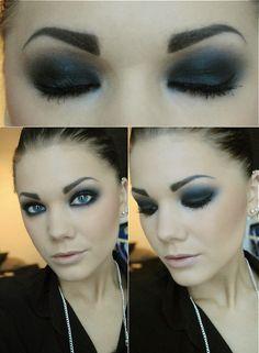 total black makeup - Linda Hallberg